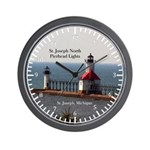 St. Joseph North Pierhead Lights Wall Clock