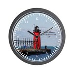 South Haven Pierhead Lights Wall Clock