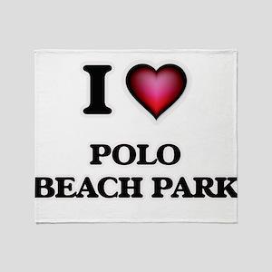 I love Polo Beach Park Hawaii Throw Blanket