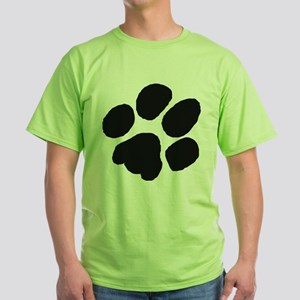 Pawprint Green T-Shirt