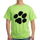 Dog paw Green T-Shirt