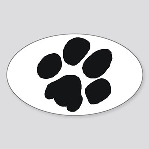 Pawprint Oval Sticker