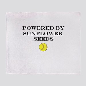 Powered By Sunflower Seeds Throw Blanket