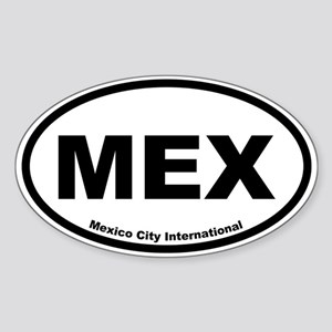 Mexico City International Oval Sticker