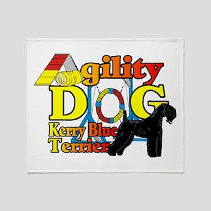 Kerry Blue Agility Throw Blanket