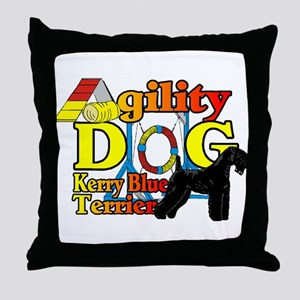 Kerry Blue Agility Throw Pillow