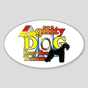 Kerry Blue Agility Sticker (Oval 10 pk)