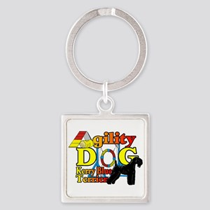 Kerry Blue Agility Square Keychain