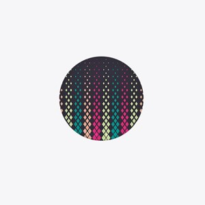 Geometric Pattern Mini Button