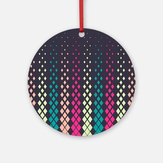 Geometric Pattern Round Ornament