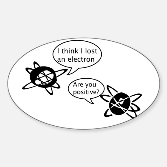 Atoms & Electrons Oval Decal