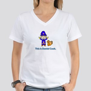 Women'sV-Neck:This is Daniel Cook as a magician(a)