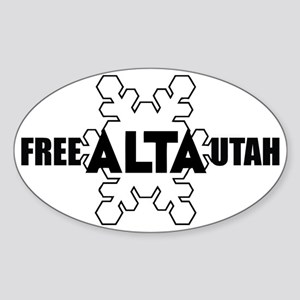 Free Alta Utah Oval Sticker