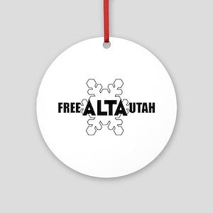 Free Alta Utah Ornament (Round)