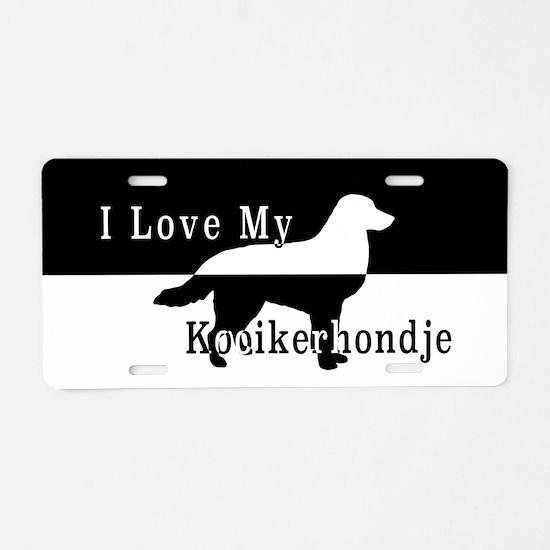 Unique Kooikerhondje Aluminum License Plate