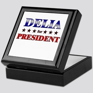 DELIA for president Keepsake Box
