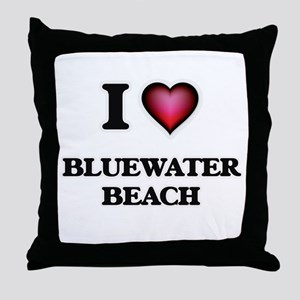 I love Bluewater Beach Florida Throw Pillow