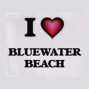 I love Bluewater Beach Florida Throw Blanket