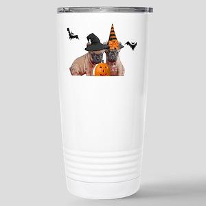 Halloween French Bulldo Stainless Steel Travel Mug