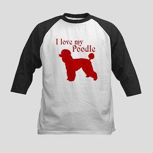 I Love my Dog Kids Baseball Tee