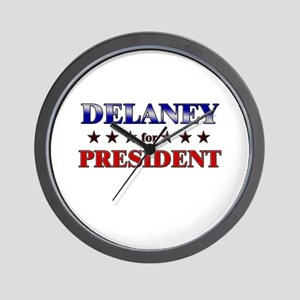 DELANEY for president Wall Clock