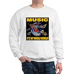 Music Instruments In Space Sweatshirt