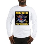 Music Instruments In Space Long Sleeve T-Shirt