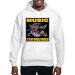 Music Instruments In Space Hooded Sweatshirt