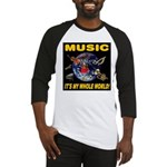 Music Instruments In Space Baseball Jersey
