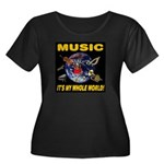 Music Instruments In Space Women's Plus Size Scoop