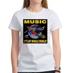 Music Instruments In Space Women's T-Shirt