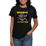 Music Instruments In Space Women's Dark T-Shirt