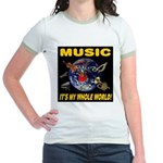 Music Instruments In Space Jr. Ringer T-Shirt