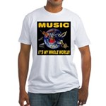Music Instruments In Space Fitted T-Shirt