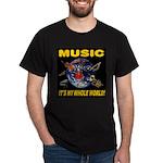 Music Instruments In Space Dark T-Shirt