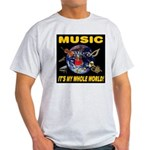 Music Instruments In Space Light T-Shirt