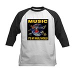 Music Instruments In Space Kids Baseball Jersey
