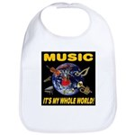 Music Instruments In Space Bib