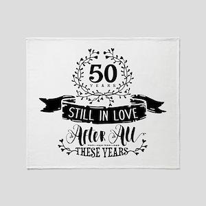 50th Anniversary Throw Blanket