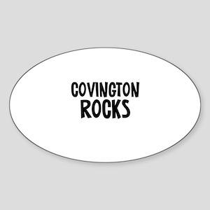 Covington Rocks Oval Sticker