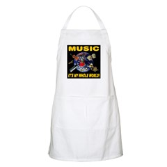 Music Instruments In Space 20 BBQ Apron