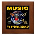 Music Instruments In Space Framed Tile