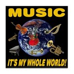 Music Instruments In Space Tile Coaster