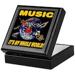 Music Instruments In Space Keepsake Box