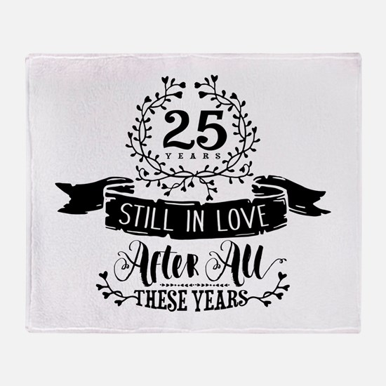 25th Anniversary Throw Blanket