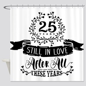 25th Anniversary Shower Curtain