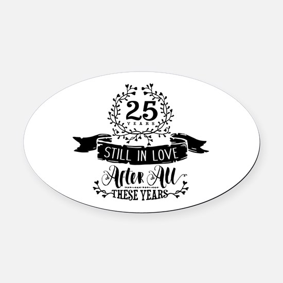 25th Anniversary Oval Car Magnet