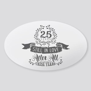 25th Anniversary Sticker (Oval)