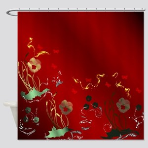 fantasy floral designs shine with s Shower Curtain