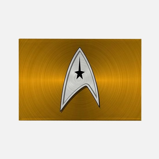 STARTREK TOS CMD METAL 2 Rectangle Magnet